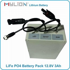 Lifepo4 Battery Lithium ion for Solar LED & UPS 12.8V 3Ah