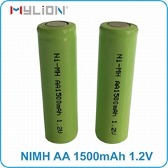 rechargeable nimh 1.2v 1500mah aa Battery