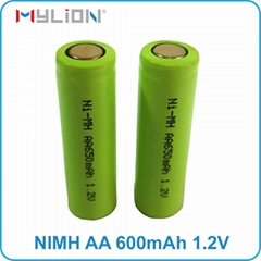 rechargeable nimh 1.2v 650mah aa Battery