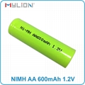 rechargeable nimh 1.2v 600mah AA Battery