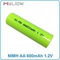 rechargeable nimh 1.2v 600mah AA Battery