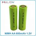 rechargeable nimh 1.2v 600mah AA Battery 7