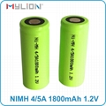 rechargeable 1.2v 4/5A 1800mah nimh