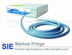 Portable high-brightness LED cold light source