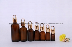 精油瓶棕色蓝色绿色精油分装瓶