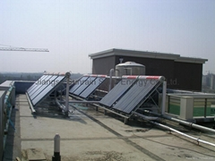 Large scale solar water heater