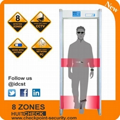 8 eight zones walk through metal detector CS-DH