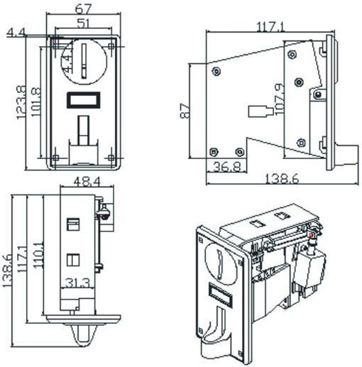 Tr188 Intelligent Single Coin Acceptor China Trading