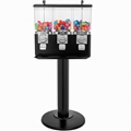 TR103B -  Triple Gumball/Candy Machine w/ Monster Stand