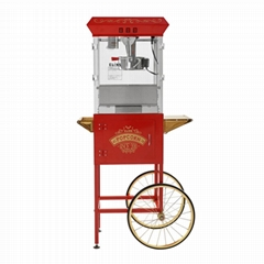 8 ounce large popcorn machine with cart (PM08LC)