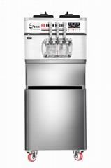 2021 Hot Sell Floor Type Three Flavors Soft Ice Cream Machine (ICM-6628F)