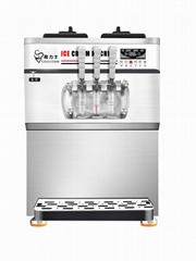 2021 Hot Sell Table Top Three Flavors Soft Ice Cream Machine (ICM-6628T)