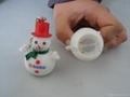 Glycine snowman keychain&Flashing snowman