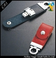 OEM Factory Leather USB Flash Drives 2.0 Full Capacity