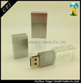 Promotion crystal and metal USB Flash Drives