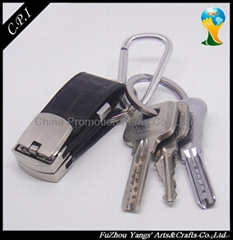 hot selling leather keyring USB Flash Drives