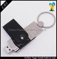 hot selling leather keyring USB Flash Drives