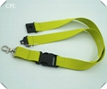 2.5cm wide polyester mateiral lanyard with plastic buckles