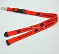 heat transfer printing lanyard with black buckles