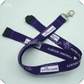 Promotion purple sublimation polyester material flat lanyard