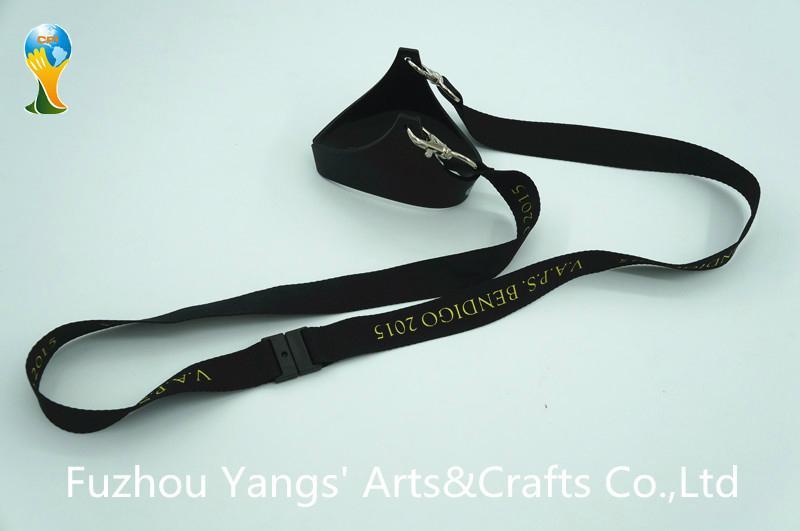 Custom wine glass holder polyester material lanyard