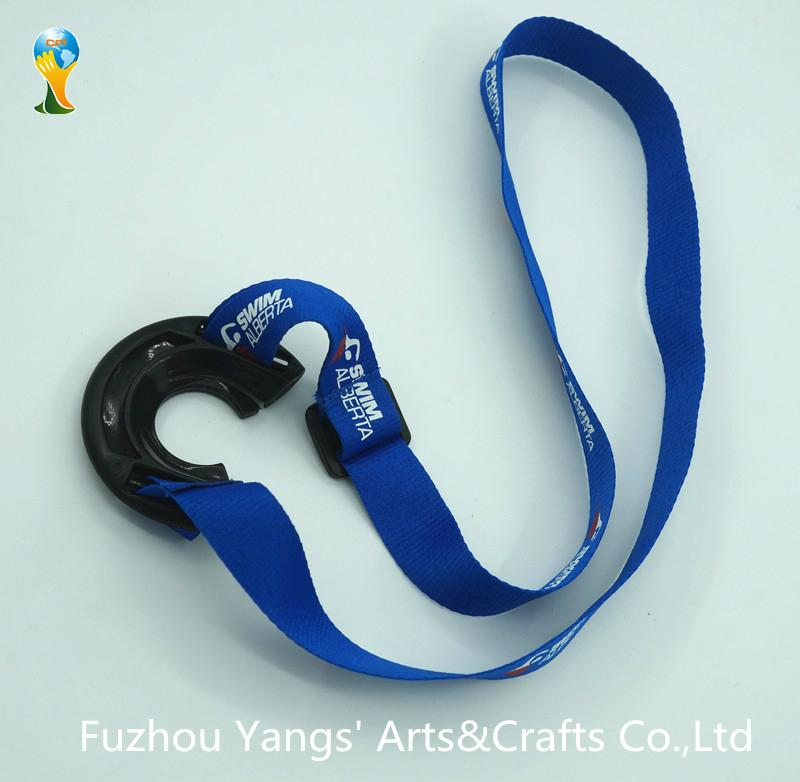 Hot selling bottle holder lanyard with silk screen printing logo- the back side