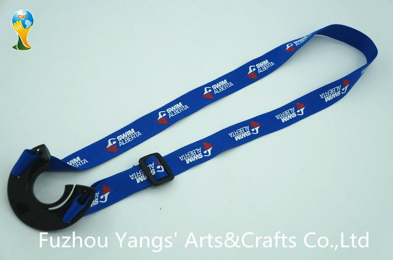 Hot selling bottle holder lanyard with silk screen printing logo-the front side