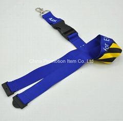 Sublimation lanyard with