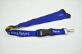 Sublimation lanyard with black buckles