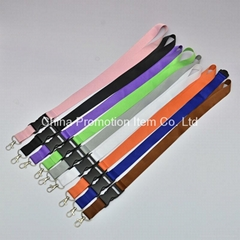 Blank polyester material colorful wide lanyard for exhibition