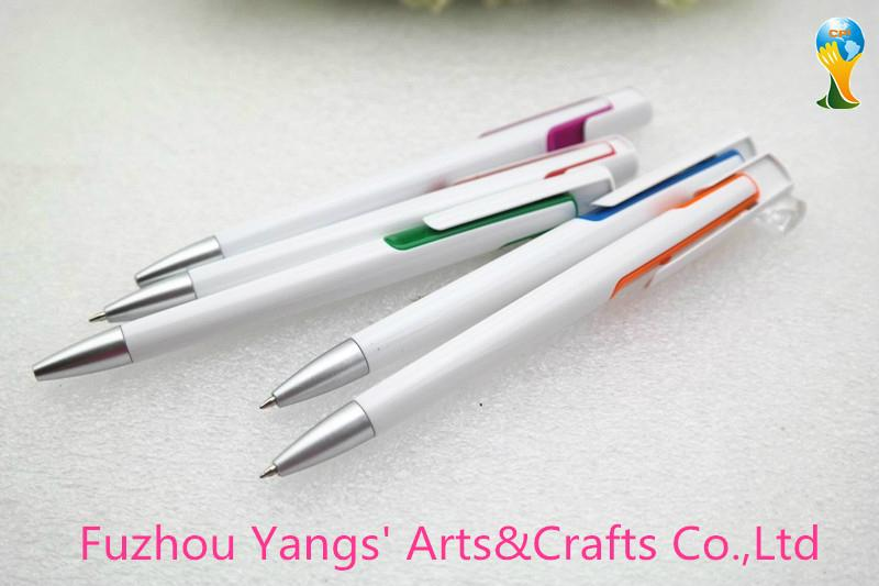 White color plastic point touch pen with decoration color part 1
