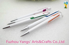 White color plastic point touch pen with