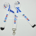Polyester material lanyard with plastic