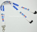 Polyester material lanyard with plastic buckles 2
