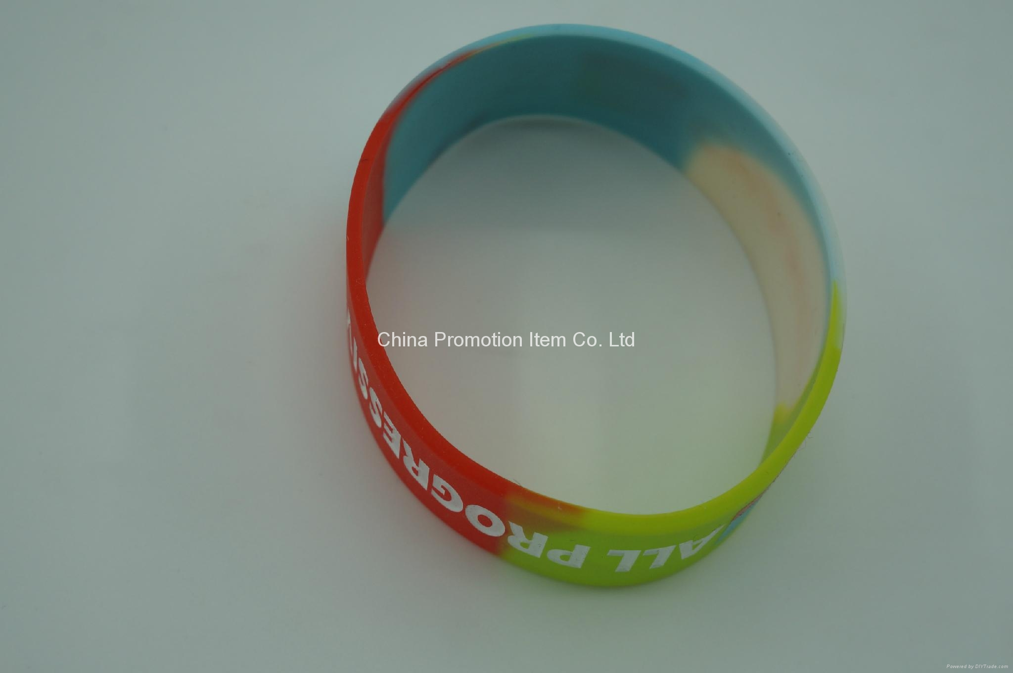 Mix colors silicone bracelet with debossed logo for events