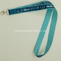 Double layer polyester lanyard