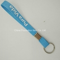 Small short polyester keychain lanyard