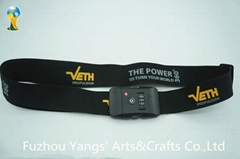 Special custom high quanlity luggage belt with password custom lock