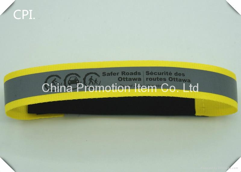 2016 new safety reflective armband with velcro