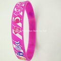 Silicone bracelet with silk screen printing logo
