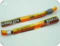 Wholesale colorful woven wristband with closure for VIP