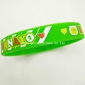 Green sport bracelet/wristband with cute logo