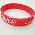 Red silicone bracelet / wristband with