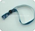 2016 one side logo printing sublimation flat polyester wristband 1