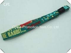 Inhouse festival exhibition mix color woven wristband for decoration