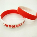 Custom color wristband with design logo