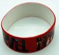 Custom silicone wristband with CMYK printing logo