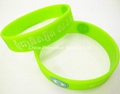 Green silicone wristband/bracelet for