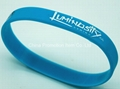 Blue wristband with silk screen printing