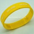 Yellow silicone bracelet with custom logo